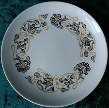 "Vintage Retro Poole Pottery Desert Song Salad Dessert Plate 9"" Yellow Black"