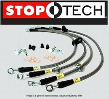 [FRONT+REAR] STOPTECH Stainless Steel Braided Brake Lines For 03-07 Hummer H2
