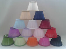 Pleated Fabric Candle Clip On Lampshade Ceiling Light Shade Handmade
