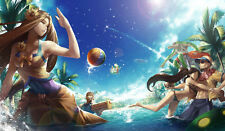 173 League of Legend Pool Party CUSTOM PLAYMAT ANIME PLAYMAT FREE SHIPPING