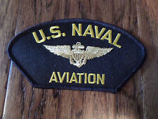 U.S MILITARY NAVY PILOT WINGS HAT PATCH NAVAL AVIATION