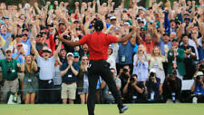 Tiger Woods 2019 Masters Win UNSIGNED 8X10 photo