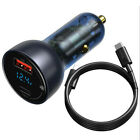 Baseus Car Charger PD 65W Quick Charge 3.0 USB Type C Charger For iPhone Laptop
