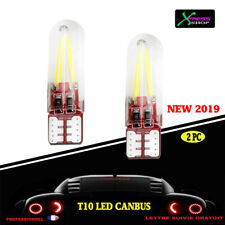 kit 2 t10 led w5w canbus anti erreur cob Blanc 6000k  silicone 12v **