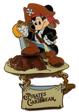 Disney Pin 47109 Pirates of the Caribbean Mickey Mouse Sword Legend Golden Pins