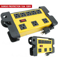 EMB EPTM8 8 Outlet Metal Power Strip Surge Protector 15A 120V for Multi-purposes
