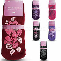 Womens Thermal Lounge Slipper Grip Non Slip Ladies Winter Warm Socks 4 TO 8 New