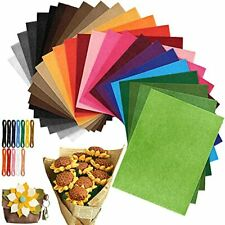 Felt Fabric Sheets Set of 26 Colors, 8.6X 11.8 Inches Assorted Soft and Stiff