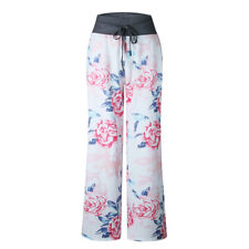 Womens Wide Leg High Waist Loose Trousers Floral Print Palazzo Floral Yoga Pants