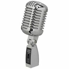 Pyle PDMICR42SL Classic Retro Vintage Style Dynamic Vocal Microphone with 15ft