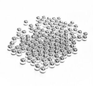 925 Sterling Silver Seamless Round Spacer Beads 3mm, 4mm