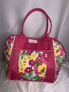 Lilly Pulitzer Multicolor Floral Pink  Polyester Tote Bag