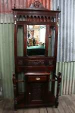 A Tall Mahogany Hall Stand with Mirror, Cupboard & Umbrella Stands