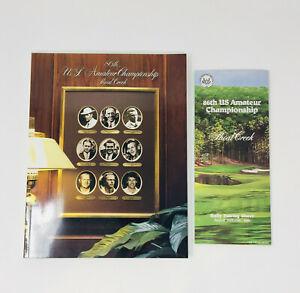 1986 86th U.S. Amateur Golf Championship Shoal Creek Program + Pairing Sheet