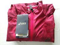 Asics Women's Fujitrail Pack Jacket #0130 Wild Raspberry Map Size XL - Free Ship