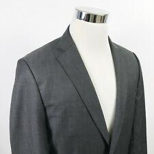 Hugo Boss Mens 38R Jam75 Sharp3 Sport Coat Dark Charcoal 100% Wool Two Button