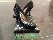 NIB Sam Edelman New & Gen. Black Leather Heeled Shoes UK Size 6.5 US 8.5 EU 39.5