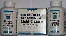 (2) MULTI CLEANSE, 2 BOTTLE JUMBO KITS 275ct OF DUAL ACTION colon,Bowel CLEANSE