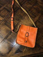 Patricia Nash Orange Leather Cross Body Purse