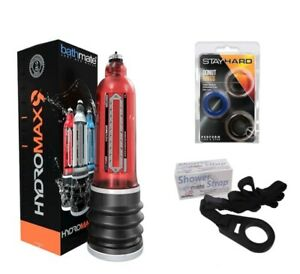 Hydromax 9 RED Bathmate X40 Water Penis Pump Enlarger + FREE STRAP + GIFT