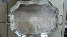 Crafton silver plate high tea serving platter made in England by Frank Hawker