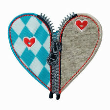 Trachten Herz Bayrisch Oktoberfest  Aufnäher Aufbügler Patch Applikation #9448