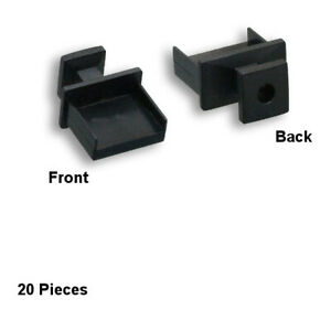 Kentek Lot of 20 USB Type A Anti-Dust Cover Plug Cap for USB Port with Handle