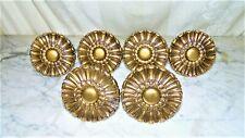 6 Vintage Gold Plastic Baroque Curtain Tie Backs~bx7