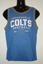 Mens Blue INDIANAPOLIS COLTS Sleeveless Football NFL T Shirt ~ Size XL