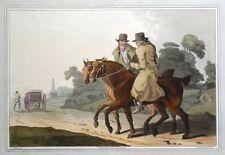FARMERS, COSTUME OF YORKSHIRE, G.Walker original antique aquatint print 1814