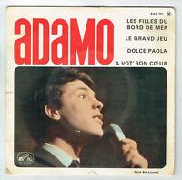 """ADAMO  Vinyl 45 tours EP 7"""" LES FILLES DU BORD DE MER -VOIX MAITRE 757 F Rèduit"""
