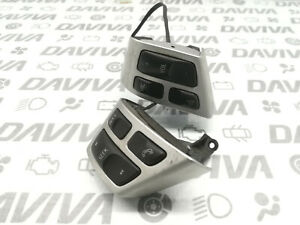 05 Saab 9-3 Multi Function Steering Wheel Buttons Switches Silver Trim 12801607