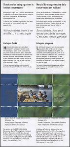 Canada 2005 Canard Tampon En Dossier Harlequin Duck Par W. Alan Hancock