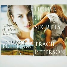 NEW Two Novels Books by Tracie Peterson House of Secrets, Where My Heart Belongs