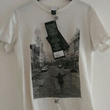 Diesel 55DSL white graphic men t-shirt small NEW with Tag