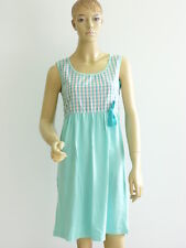 """ROBE DE PLAGE NUISETTE """"MY SUMMER O'MOI"""" COTON TURQUOISE T. M ( 40/42 )"""
