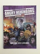 ZOMBICIDE ANGRY NEIGHBORS  ADDITIONAL RULES & MISSIONS RULEBOOK CMON ZOMBIE