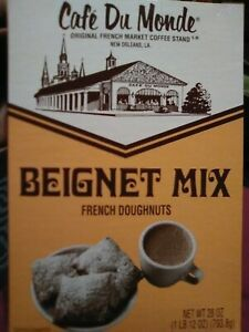 Cafe Du Monde Beignet Mix 28 Oz Box French Doughnuts New Orleans Louisiana