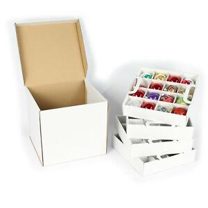 Weihnachtskugel Aufbewahrung Box für mittlere Kugeln bis 6 cm Duchmesser in weiß