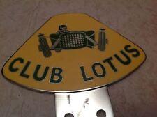 CLUB LOTUS CAR BADGE ELISE CHROME PLATED AUTOMOBILIA EXIGE EVORA ELAN