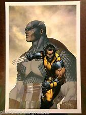 Marvel Michael Turner Captain America Wolverine Print Signed Peter Steigerwald