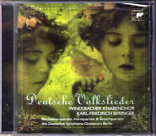 DEUTSCHE VOLKSLIEDER Windsbacher Knabenchor BERINGER CD Brahms Praetorius Störl