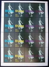 "Le Liberia Princesse Diana 25c ""Marilyn Monroe poser"" sheetlet de 16 U / M bn1203"