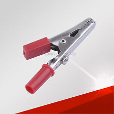 Heavy Duty Alligator Metal Clips, 58.5mm Test Clamp Red+ Positive Electrode/Pole