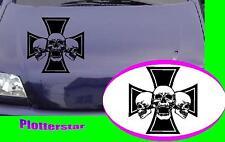 Skull Iron Cross nr2  Motorhaube style tuning  Aufkleber Sticker leider JDM OEM
