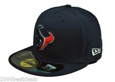 best service 6301c 57f0b Era 59fifty Cap NFL Houston Texans Blue on Field Fitted Hat 5950 Size 7 1