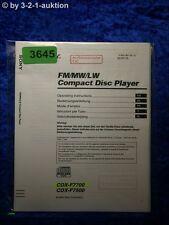 Sony Bedienungsanleitung CDX F7700 /F7500 CD Player (#3645)