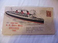 1936, London England First Trip, Ss Queen Mary, Sent To Usa, Check Photos,As Is