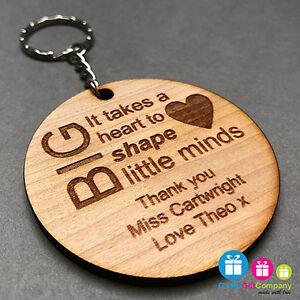 Personalised Teacher Gift End Of Term Leaving Present Keyring