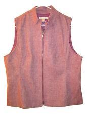 $80 NEW Coldwater Creek Herringbone jacket Full Zip Wool Blend vest size 8